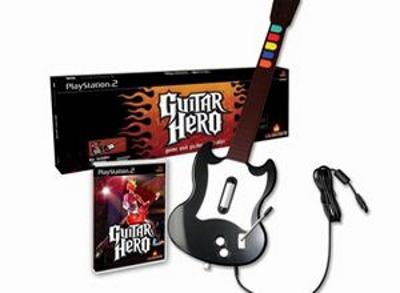 Das Original-Paket: Guitar Hero mit Gitarre für die PlayStation 2